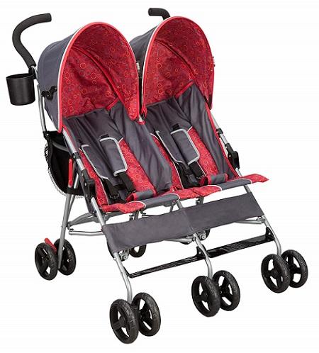 Delta Children City Street LX - best compact double stroller